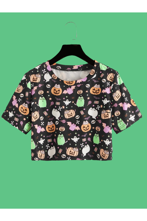 Pumpkin Party Crop T-Shirt