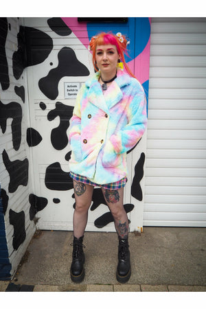 Cotton Candy Rainbow Coat