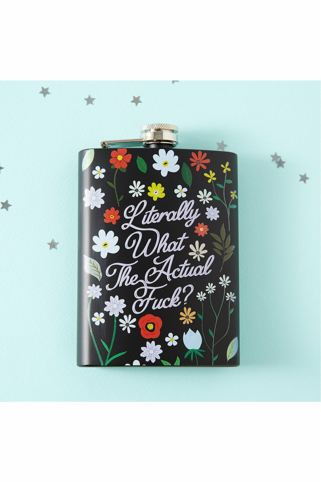 What The F#ck Black Hip Flask