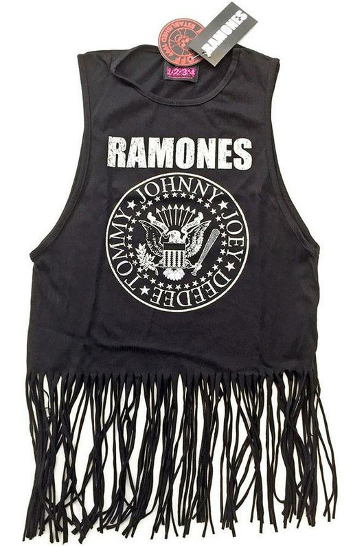 RAMONES : Tassel Crop Top
