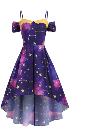Constellation High-Low Dress