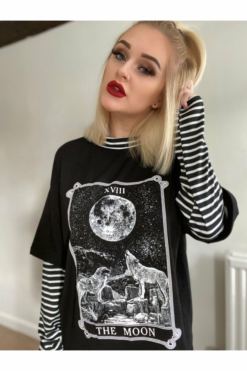 The Moon Tarot Card Layered Top