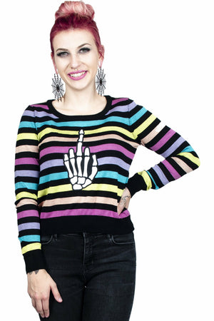 Up Yours Skeleton Sweater