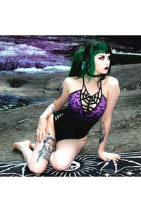 Bats Purple Swimsuit