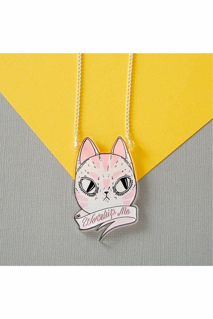 Worship Me Cat Necklace