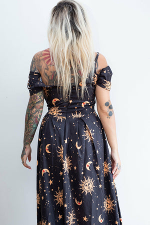 Celestial High-Low Dress