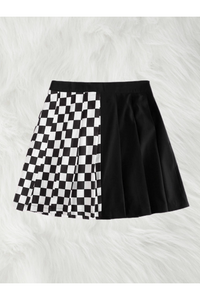 Check Mate Pleated Skirt