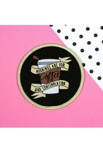 Mornings Are For Coffee Woven Patch