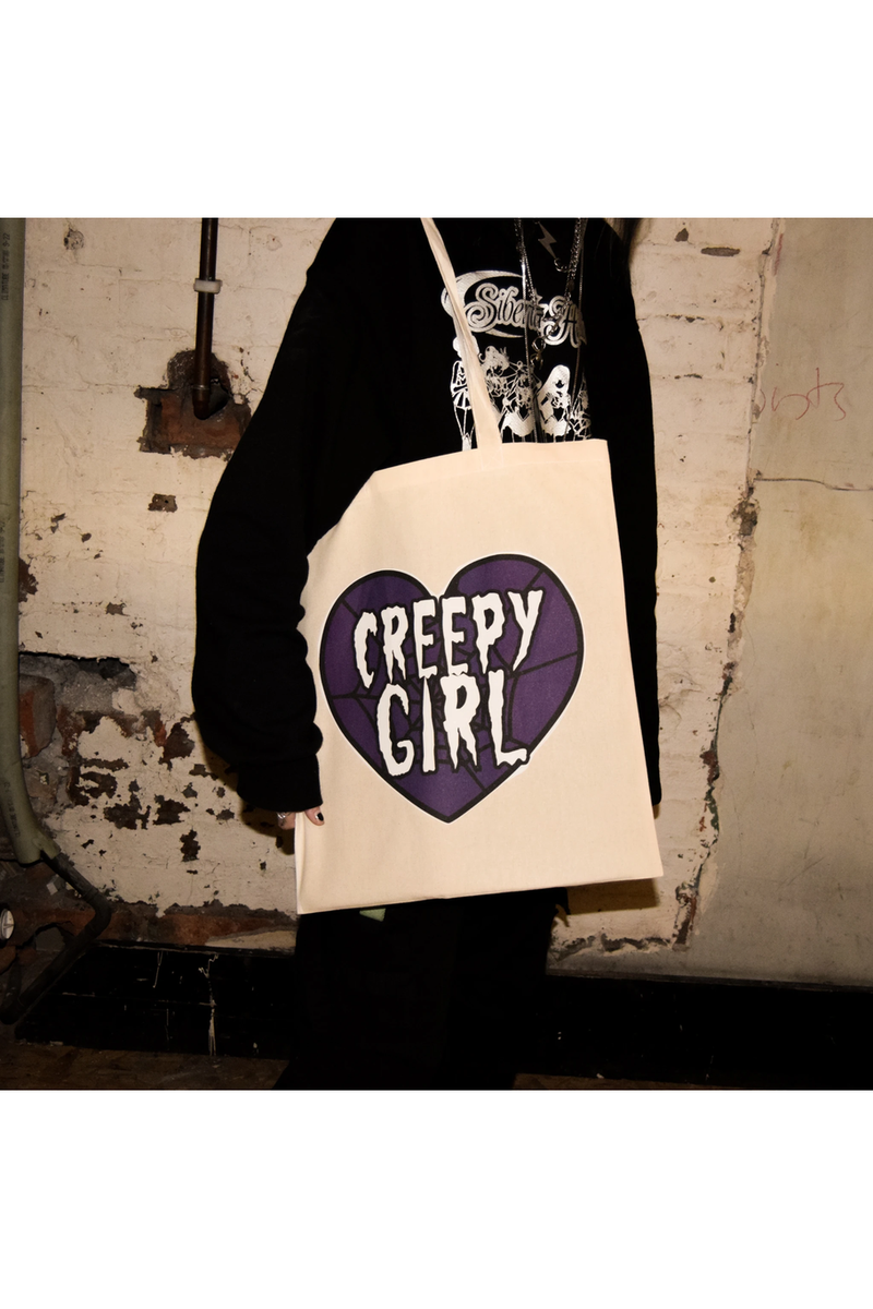 Creepy Girl Tote Bag