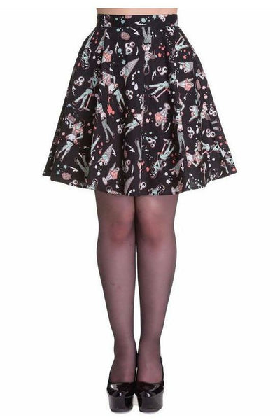 Black Zombie Diner Horror Skirt