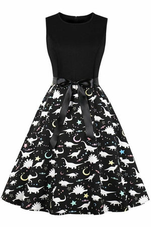 Monochrome Dinosaur Dress