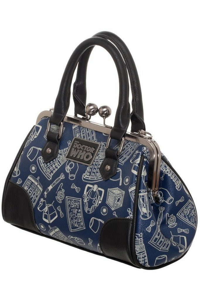 Doctor Who Kiss Lock Bag - Soft Kitty Clothing