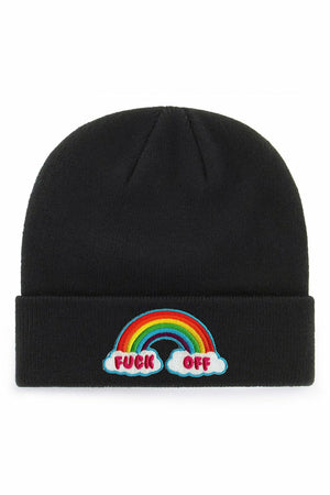 Fuck Off Rainbow Beanie Hat