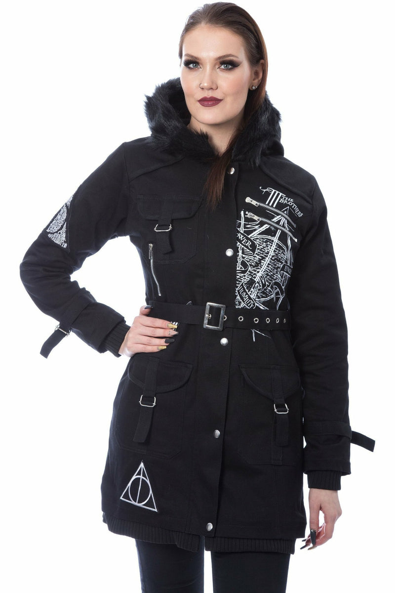Harry Potter x The Deathly Hallows Parka Coat