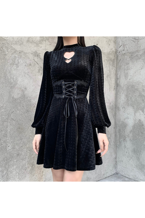 Jet Black Heart Dress