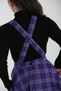Kennedy Purple Tartan Pinafore Dress