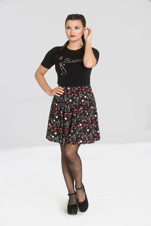 Bisous Lipstick Skirt