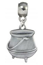 Harry Potter Cauldron Slider Charm (Silver Plated) - Soft Kitty Clothing