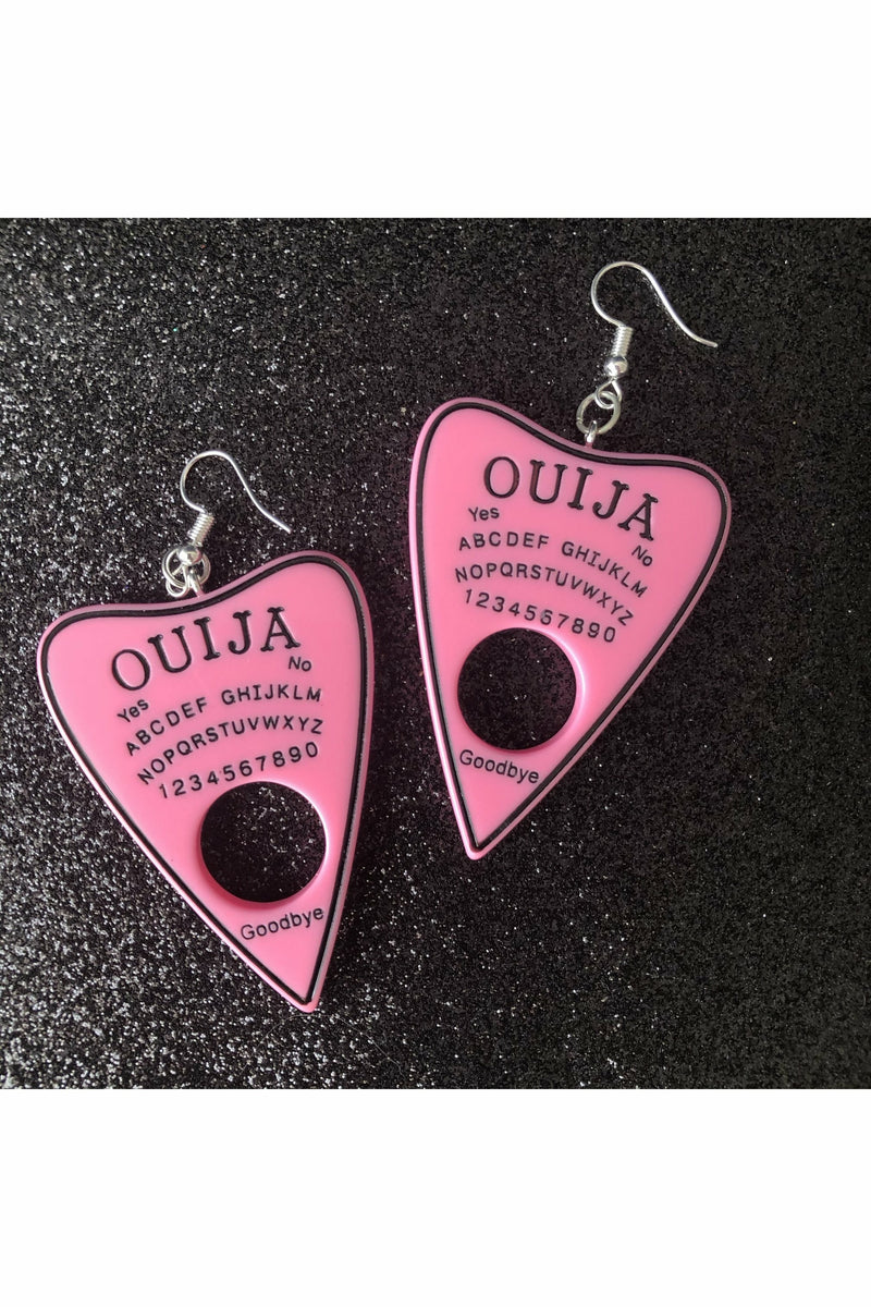 Ouija Solid Pink Earrings