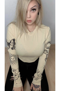 Inked Emblem Sand Long Sleeve Top