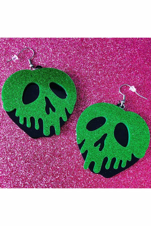 Poison Apple Glitter Earrings