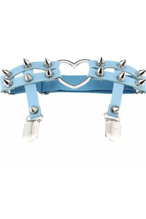 Pastel Blue Heart Garters (PAIR)