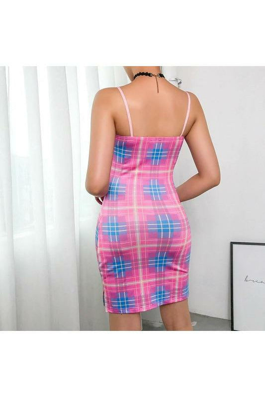 Pastel AF Tartan Bodycon Dress