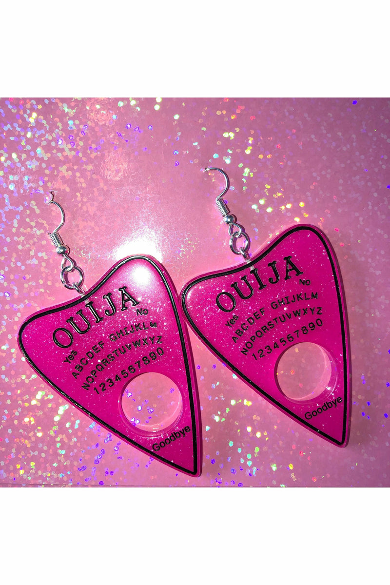 Ouija Pink Earrings