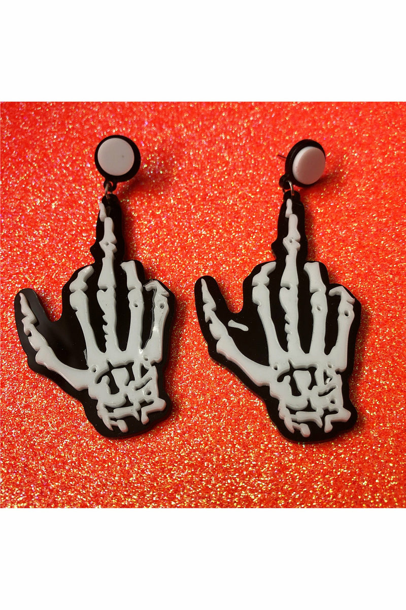 Middle Fingers Up Earrings