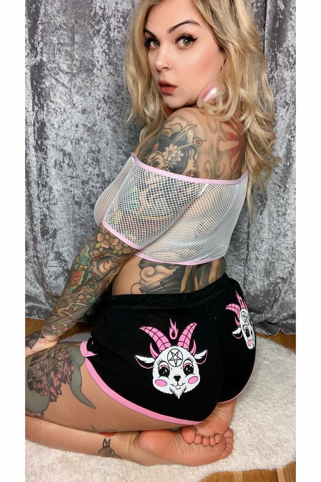 Baby Baphomet Pastel Booty Shorts