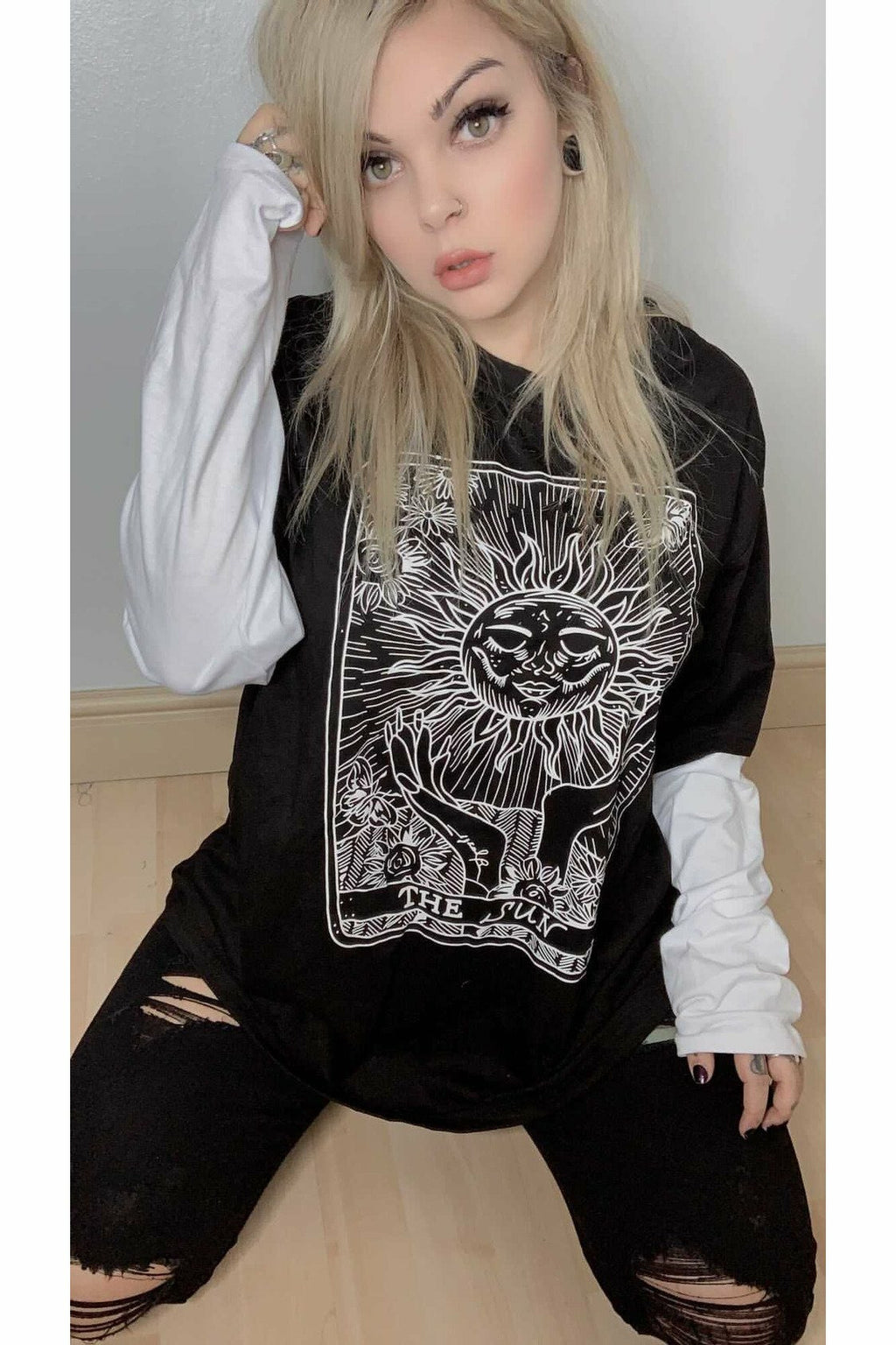 The Sun Tarot Card Layered Top