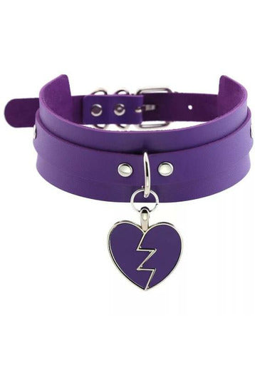 Heartbreaker Purple Choker