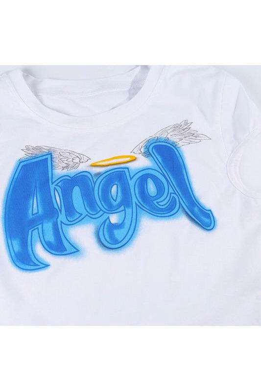 Angel Graffiti Crop Top