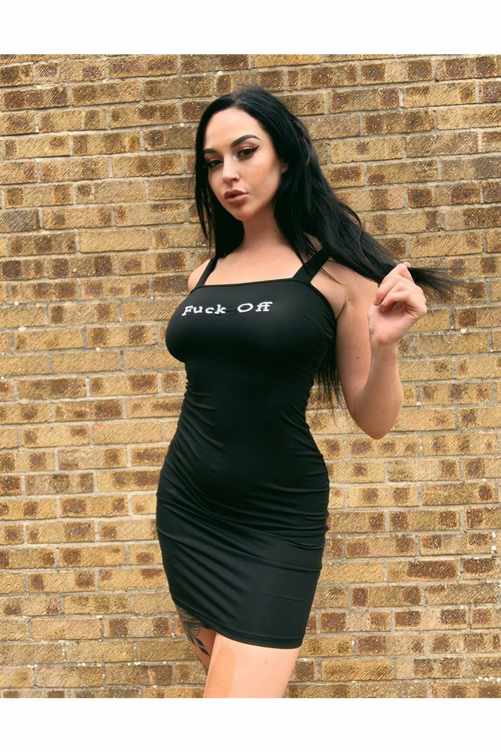 F*CK OFF Bodycon Dress