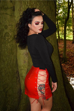 Devil In Disguise PVC Skirt
