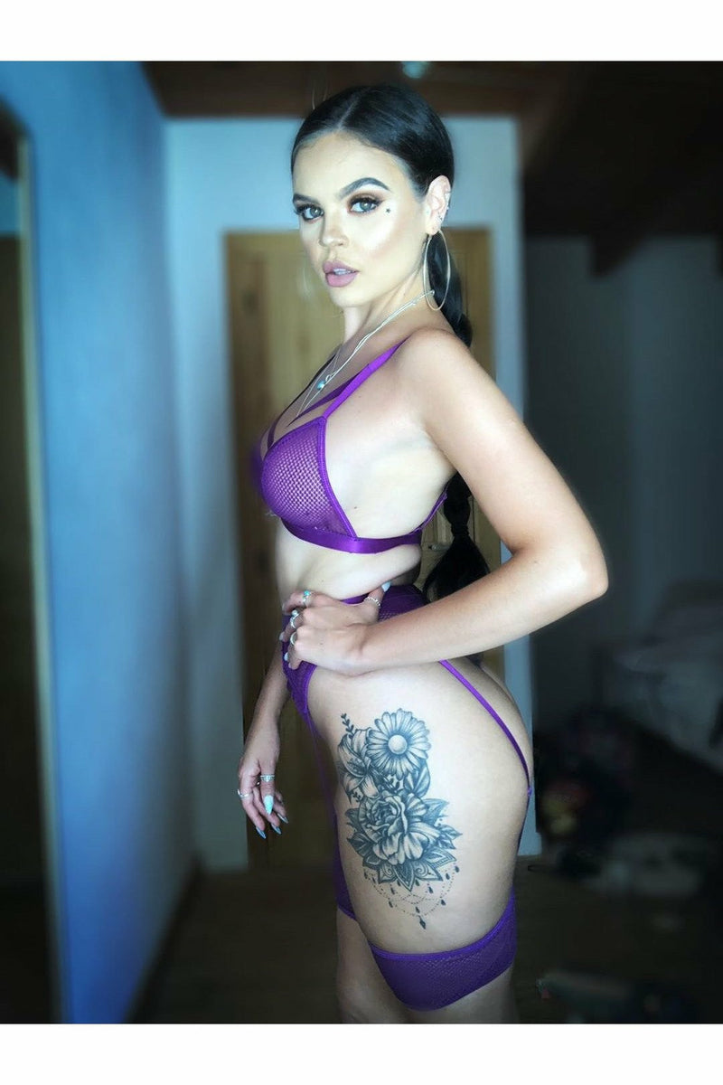 Purple Raine Lingerie Set