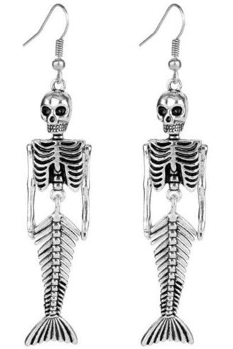 Skeleton Mermaid Earrings