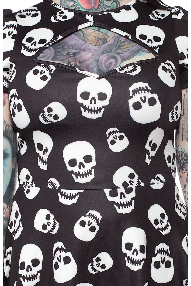 Lust For Skulls Scuba Dress
