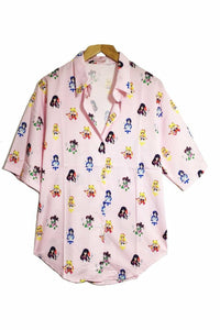 Sailor Scout Print Blouse - Soft Kitty Clothing