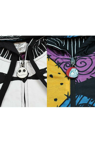 Nightmare Before Christmas Jack and Sally Reversible Hoodie