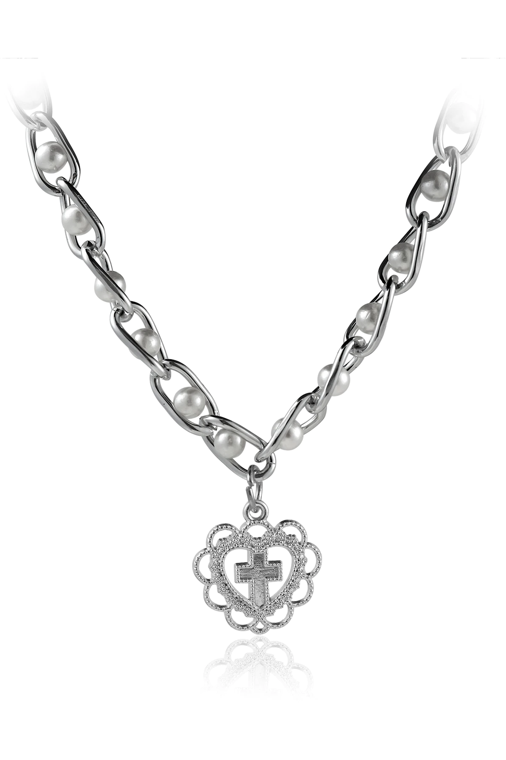 Cross Your Heart Pearl Choker