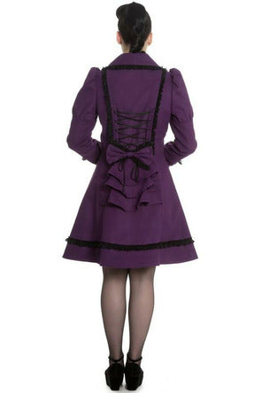 Courtney Black + Purple Bow Coat - Soft Kitty Clothing