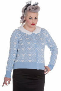 Bobbi Pastel Heart Cardigan - Soft Kitty Clothing