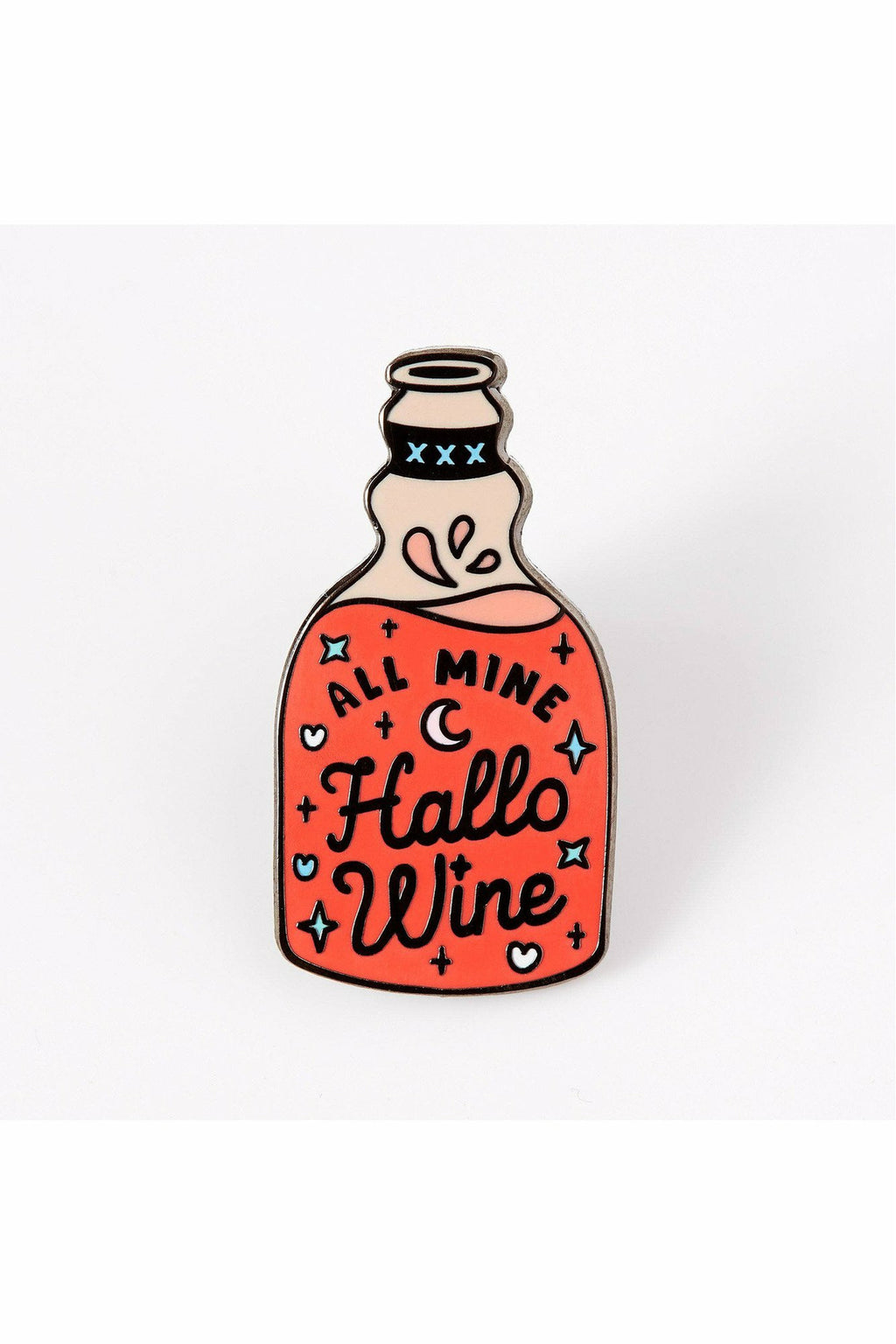 Hallo-wine Enamel Pin