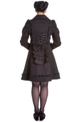 Courtney Black Bow Coat