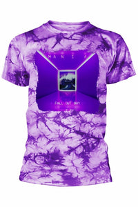 FALL OUT BOY : MANIA Tie Dye Purple T-Shirt - Soft Kitty Clothing