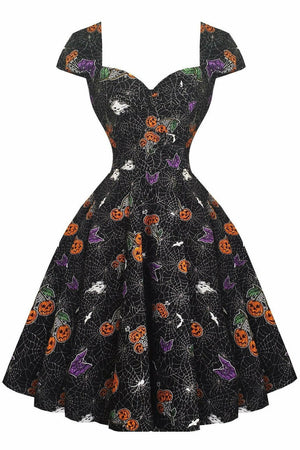 Halloween Harlow 50's Dress - Soft Kitty Clothing
