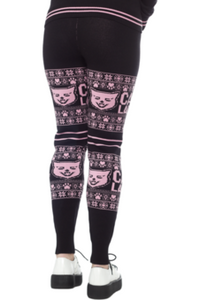 Cat Lady Knit Leggings