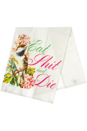 Eat Sh*t and Die Tea Towel