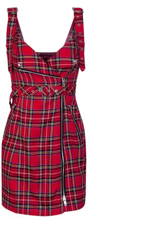 Tartan Biker Dress